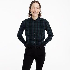 J. Crew Tartan Plaid Perfect Fitted Blouse